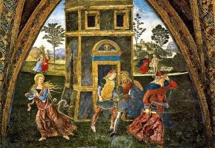 Pinturicchia, Saint Barbara fleeing the tower