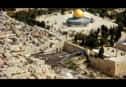 Scene from the preview of Jerusalem in 3D