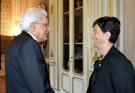 Sergio Mattarella e Emilia Guarnieri