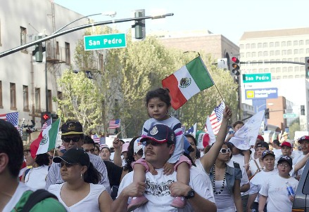 Mexican immigrants march for more rights