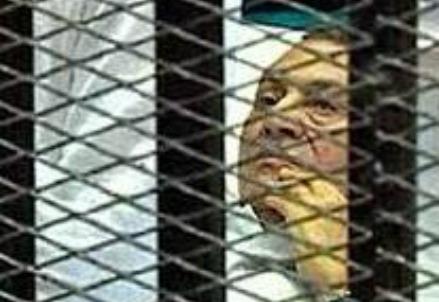 Mubarak behind bars