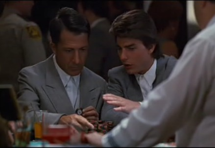 Una scena del film Rain Man