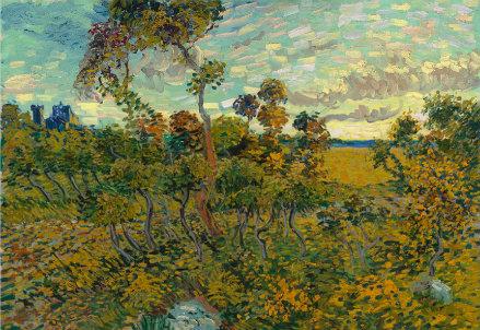Tramonto a Montmajour, attribuito a V. Van Gogh (Immagine d'archivio)