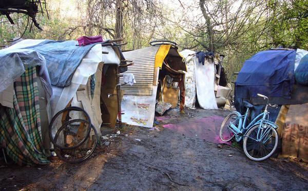 Un accampamento rom