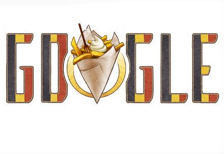 Il doodle di Google per la festa del Belgio