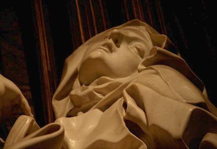 G.L. Bernini, Transverberazione di santa Teresa d'Avila, particolare (1647-52)
