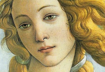 Botticelli, Nascita di Venere (1482-85, particolare) (Immagine dal web)