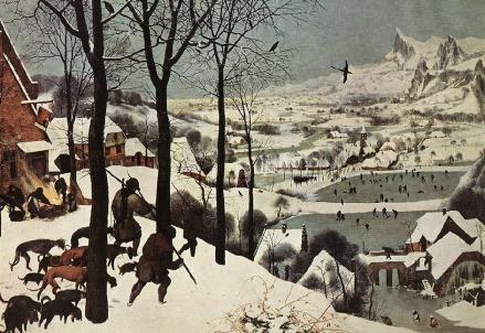Pieter Bruegel, I cacciatori nella neve (1565) (Immagine dal web)