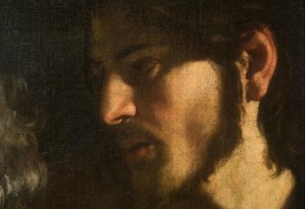 Caravaggio, Vocazione i san Matteo (particolare) (Immagine dal web)