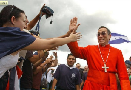 L'arcivescovo di Tegucigalpa, il cardinale Rodriguez Maradiaga