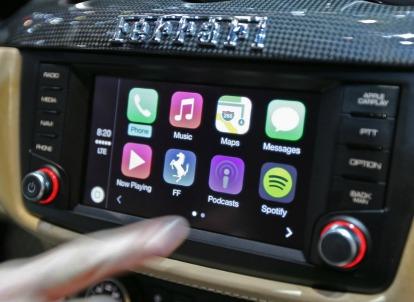 Apple CarPlay su Ferrari FF