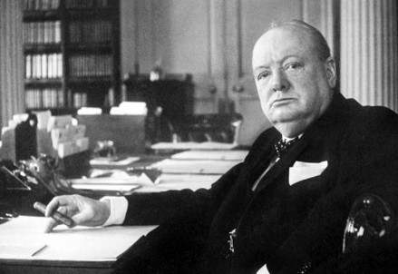 Winston Churchill (1874-1965) (Immagine d'archivio)