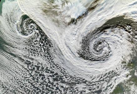 Ciclone extratropicale in Islanda