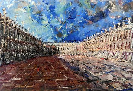 W. Congdon, Senza Titolo (Piazza san Marco a Venezia), 1948? (immagine d'archivio)