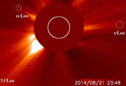 Il Sole dal coronografo di Soho