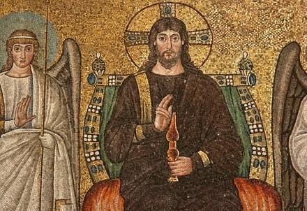 Cristo sul trono, Sant'Apollinare Nuovo, Ravenna (immagine d'archivio)