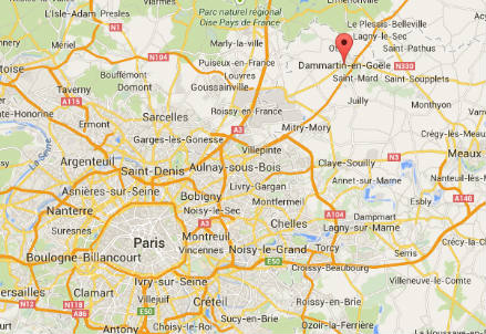 La cittadina su Google Maps