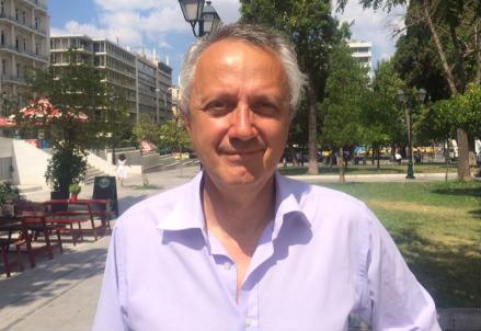 Vittorio Da Rold in Piazza Syntagma ad Atene