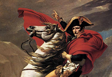 Jacques-Louis David, Napoleone supera le Alpi (1801) (Immagine d'archivio)