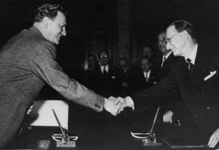 Accordo De Gasperi-Gruber, 5 settembre 1946 (Foto dal web)