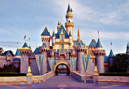 Il castello di Disneyland in California