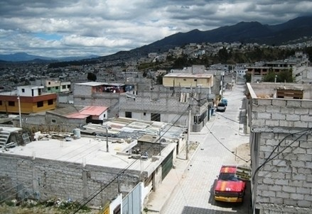 Il quartiere di Pisulli a Quito, in Ecuador (Immagine d'archivio)