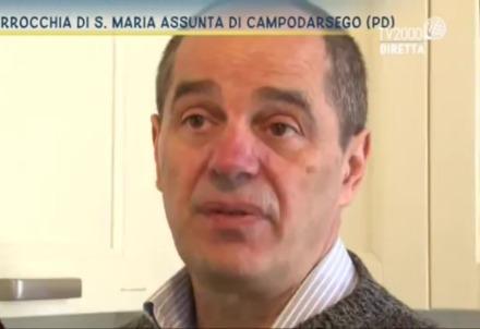 Enrico durante una intervista televisiva (Foto dal web)