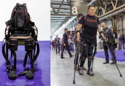 Dimostrazione dell'utilizzo dell'esoscheletro alla fiera Robotica 2012 a Milano