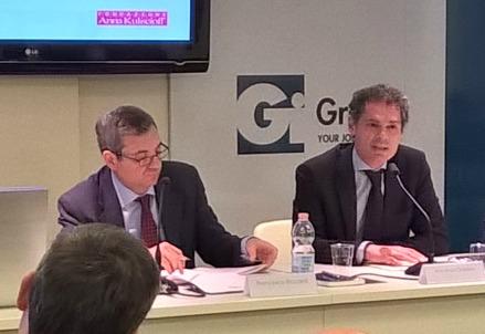 Vincenzo Galasso (a destra) al convegno Gi Group-Fondazione Kuliscioff