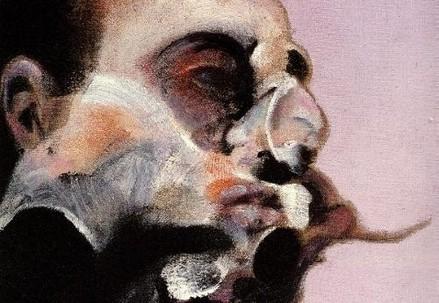 Un volto di Francis Bacon (Immagine dal web)