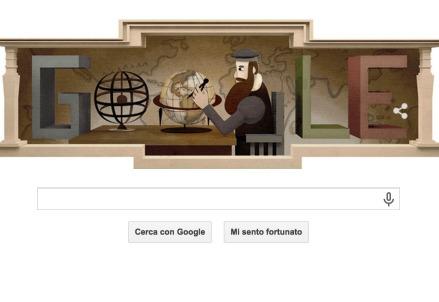 Gerardo Mercatore nel Logo di Google