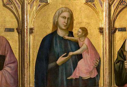 Giotto, Polittico di Badia, particolare (1300 circa) (Immagine dal web)