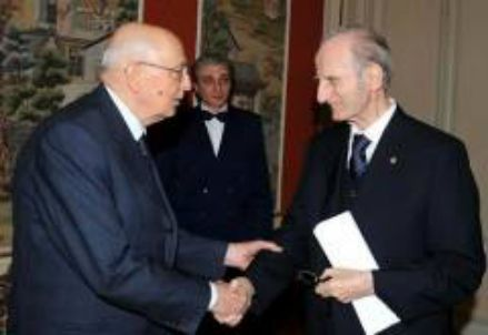 Giovanni Conso con Giorgio Napolitano
