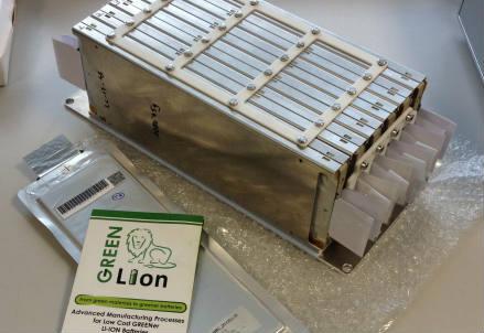 Prototipo di batterie a ioni di litio GREENLion