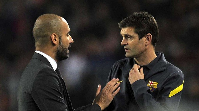 Pep Guardiola e Tito Vilanova