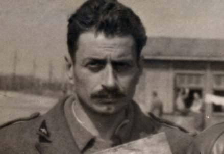 Giovannino Guareschi (1908-1968), foto segnaletica 1944 (Immagine d'archivio)