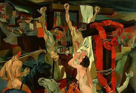 Renato Guttuso, Crocifissione (1940-41, particolare) (Immagine dal web)