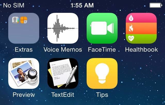 Screenshot di iOS 8