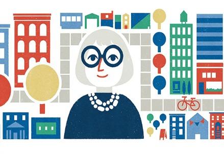 Jane Jacobs, il doodle di google