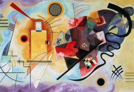 Vassily Kandinsky, Giallo-Rosso-Blu (1925) (Immagine d'archivio)