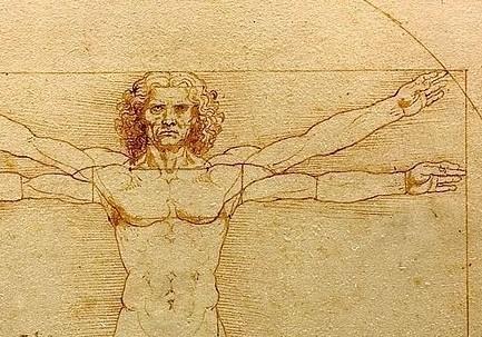 Leonardo da Vinci, Uomo vitruviano (1490 c.a) (Wikipedia)