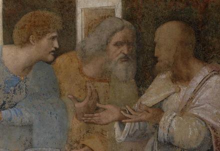 Leonardo da Vinci, Ultima Cena, particolare (Immagine dal web)