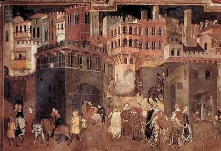 Lorenzetti, Allegoria del buon governo (1338-9) (Immagine dal web)
