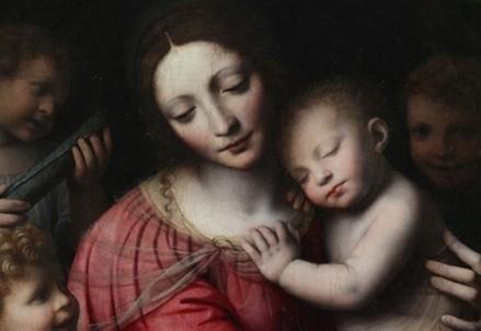 Bernardino Luini, Madonna con Bambino (Immagine d'archivio)