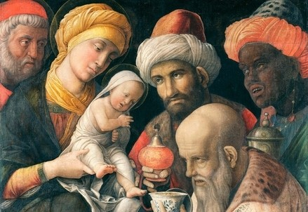 Andrea Mantegna, Adorazione dei Magi (1495-500) (Immagine d'archivio)