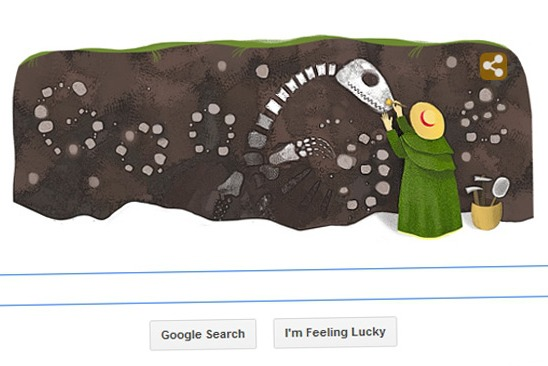 Il doodle dedicato a Mary Anning