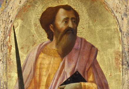 Masaccio, San Paolo (polittico di Pisa, 1426) (Immagine da Wikipedia)
