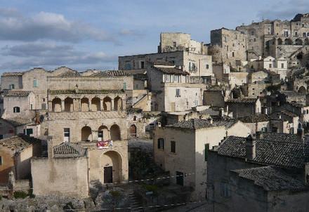 Matera, particolare del centro storico (Immagine d'archivio)