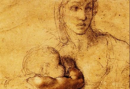 Michelangelo, Madonna col Bambino (1525) (Immagine dal web)