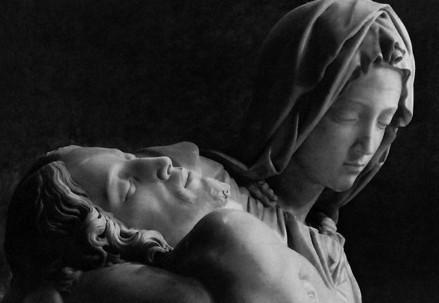 Michelangelo, Pietà Vaticana (particolare) (Immagine d'archivio)